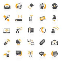 orange communication icons - 6