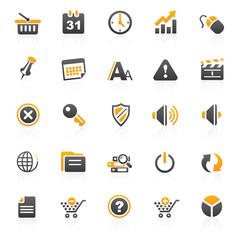 orange web internet icons - 2