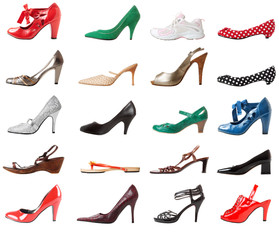 Shoes female set. Right foot | Isolated