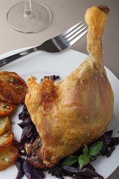 roast duck leg