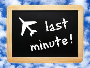 last minute - Flugreise - Holidays Concept