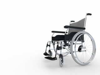 Wheelchair. 3d