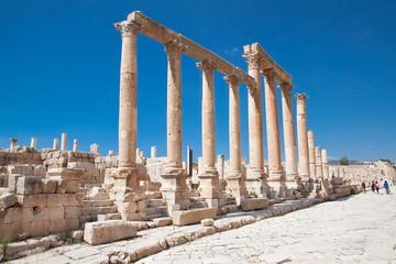 Colonnaded Street, Jerash,  Jordan.
