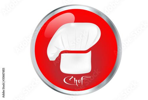 Icono De Chef Con Gorro De Cocinero Stock Image And Royalty