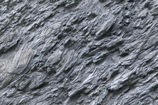 Schiefer, Naturstein, Gesteinsvorkommen, Felswand