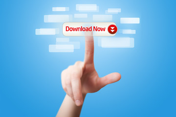 hand pressing download now button 2