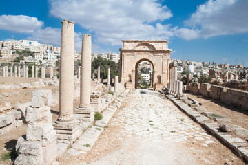 Sticker - Ancient Jerash ruins