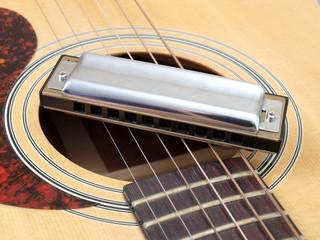 Wall Mural - Acoustic guitar close-up