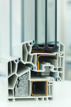 Schnittmodell Kunststofffensterrahmen