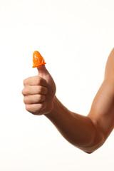 Verhütung und Schutz vor Aids durch Kondom.