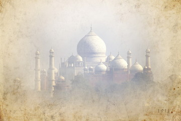 Old picture of Taj Mahal - Agra - India