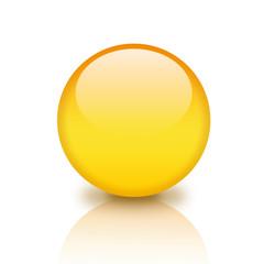 Illustration of glassy yellow orb
