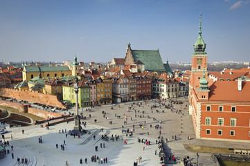 Old Town city panorama, Warsaw, Poland