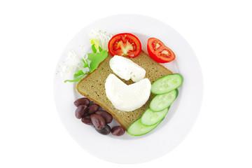 low fat mozzarella on white