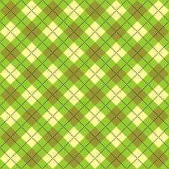 Bright green plaid