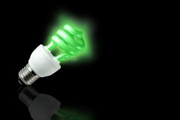 green spiral light