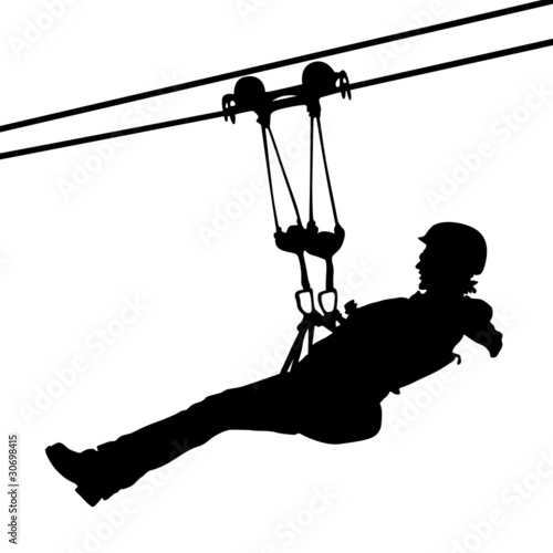 Line Art Zip : The gallery for gt zip line silhouette vector