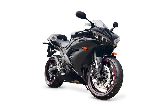 black sport bike