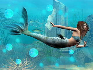 Photo sur Plexiglas Mermaid Sirena