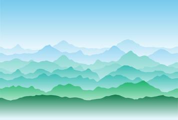 Стилизованный горный пейзаж