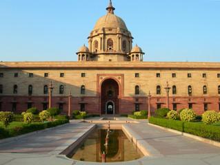 Printed kitchen splashbacks Delhi Indian Parliament building in New Delhi, India