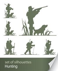 silhouette of hunter vector