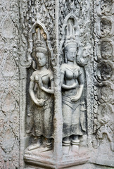 khmer stone carvings angkor wat cambodia