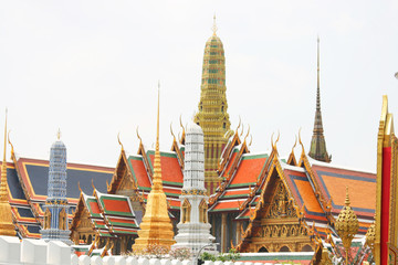 The grand palace in Bangkok, Thailand.