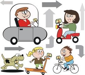 Family transport cartoon