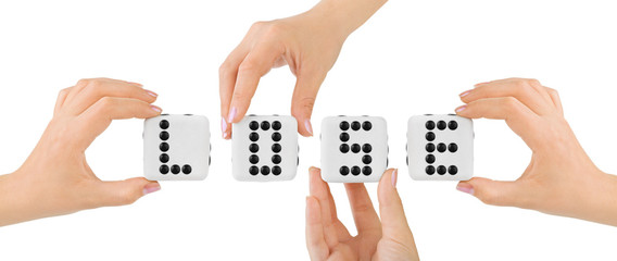 Hands and dices Lose