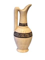 Ceramic pitcher.