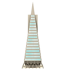 3D skyscraper on white background