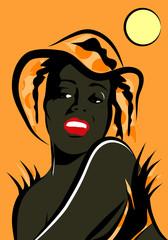 Portrait femme africaine