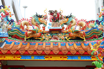 Chinese temple in Bangkok, Thailand.