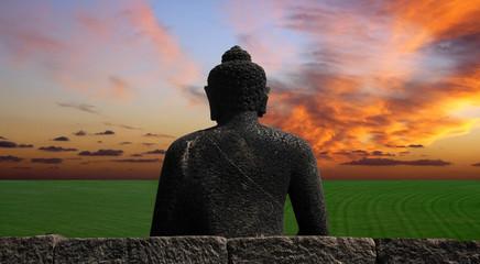 Buddha watching the sunset