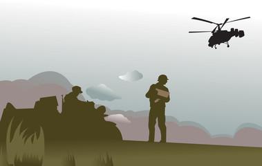 Foto op Canvas Militair battlefield
