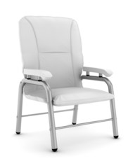 armchair isolated on white background with clipping path