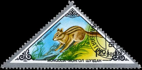 MONGOLIA - CIRCA 1983 Chipmunk