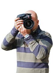 Bald photographer