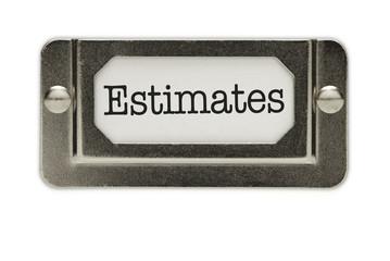 Estimates File Drawer Label