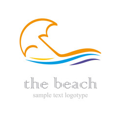 Logo The Beach # Vector