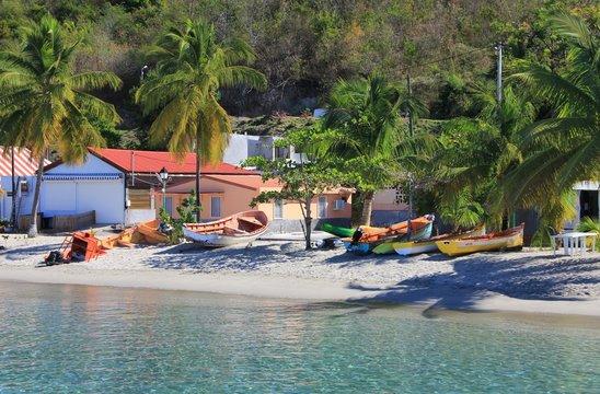 Bateaux sur une plage
