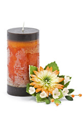 Candle and Flower decoration