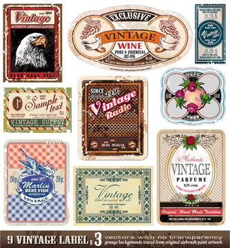 Vintage Labels - Set 3