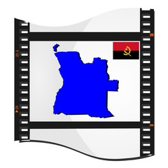 film shots with a national map of Angola