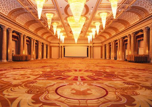 Grand luxurious hotel hall