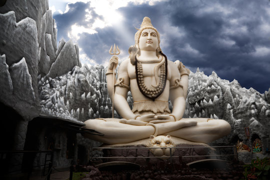 Big Lord Shiva statue in Bangalore