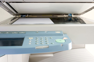 A Copy scanning in photocopier.