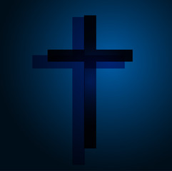 Background with cross. Vector illustration