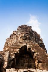 smiling face at Bayon temple, Cambodia